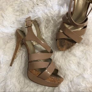 Jessica Simpson Endo Nude Stiletto Heels 8.5